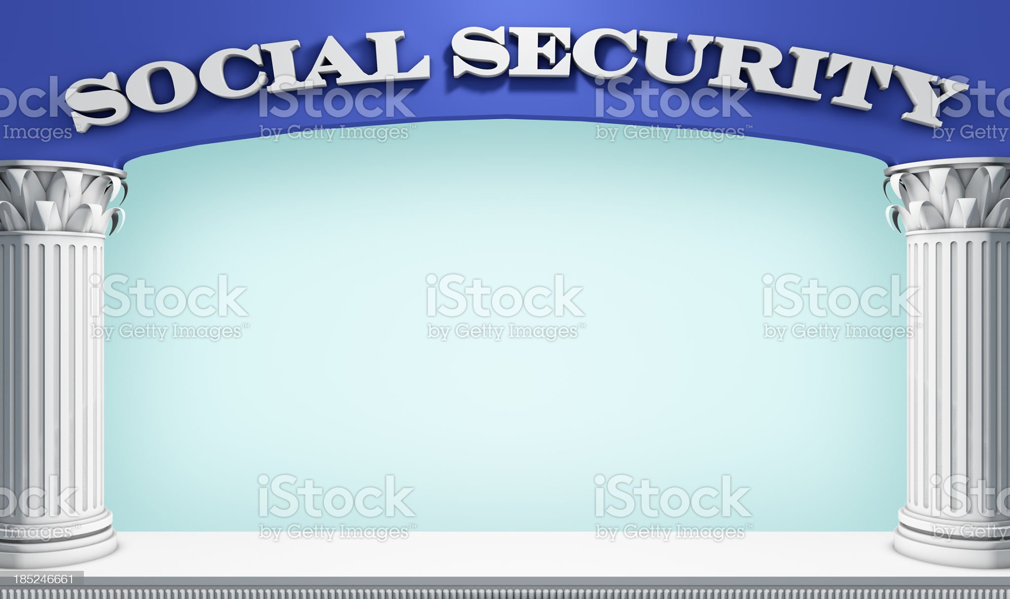 Social Serurity Stage royalty-free stock photo