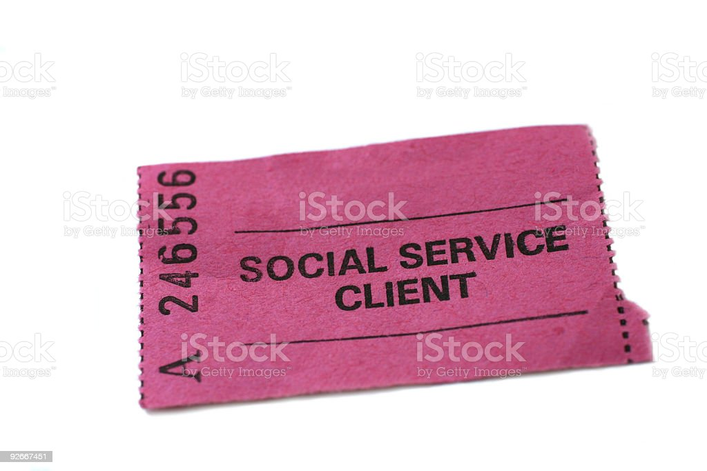 social service client ticket royalty-free stock photo