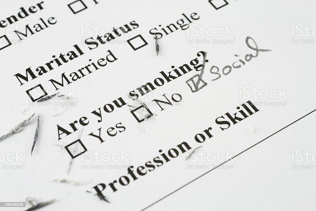 social smoker stock photo