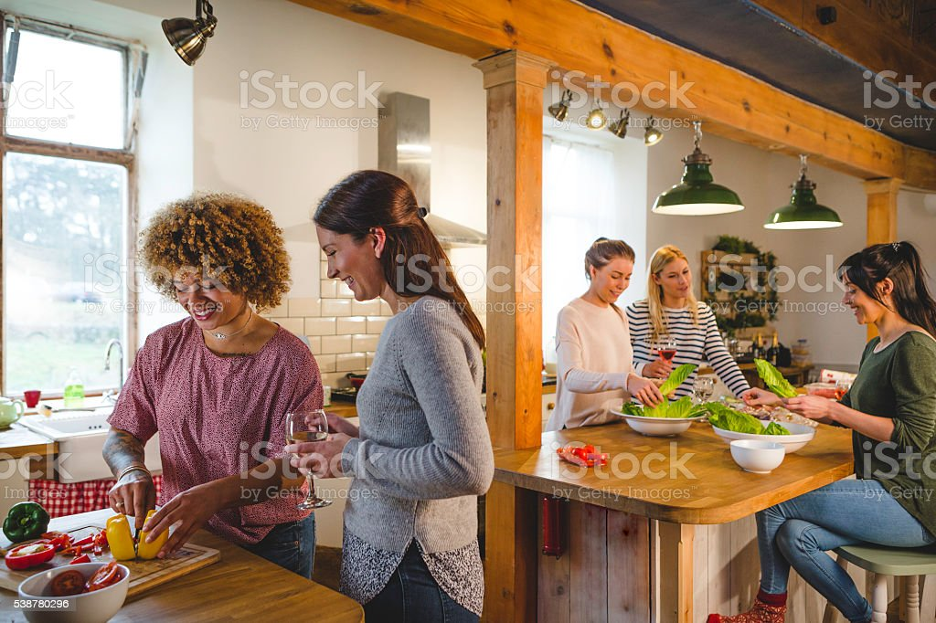 Socialising with the Girls stock photo