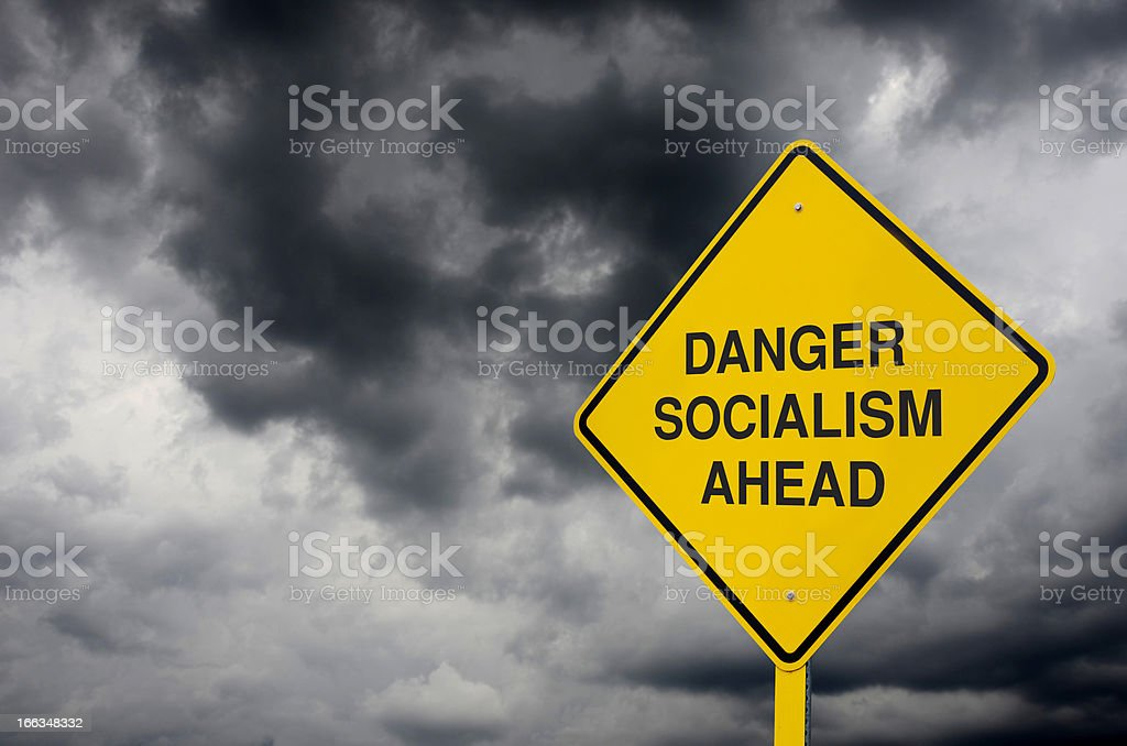 Socialism Road Sign stock photo