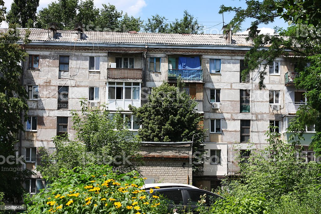 socialistic residential apartment stock photo