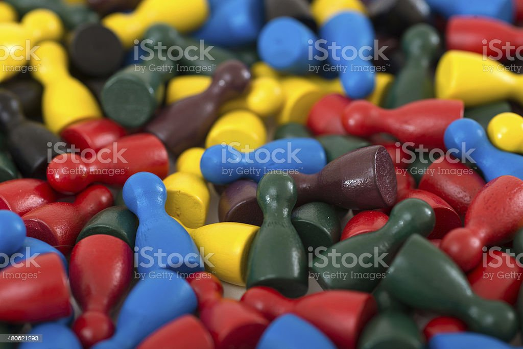 socialmedia community with pawn in a game stock photo