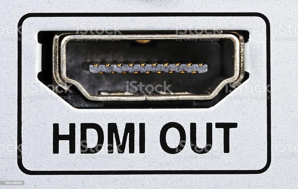 HDMI socket. royalty-free stock photo