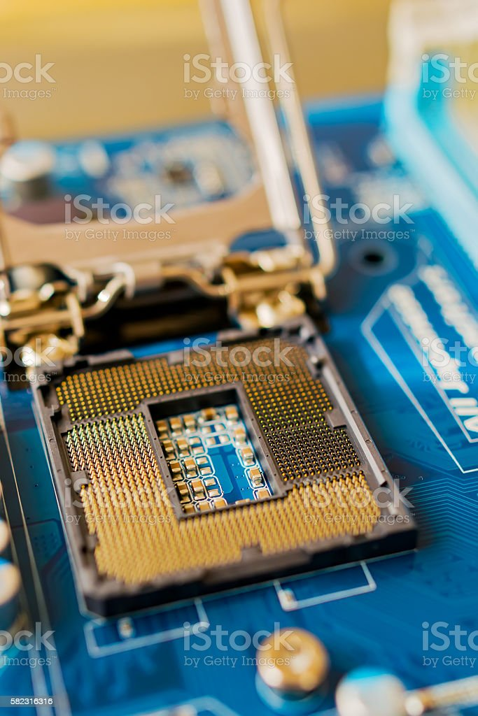 CPU socket stock photo