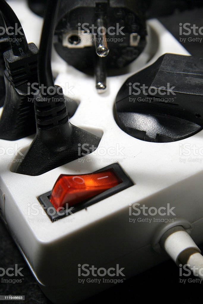 socket with cables (series) stock photo