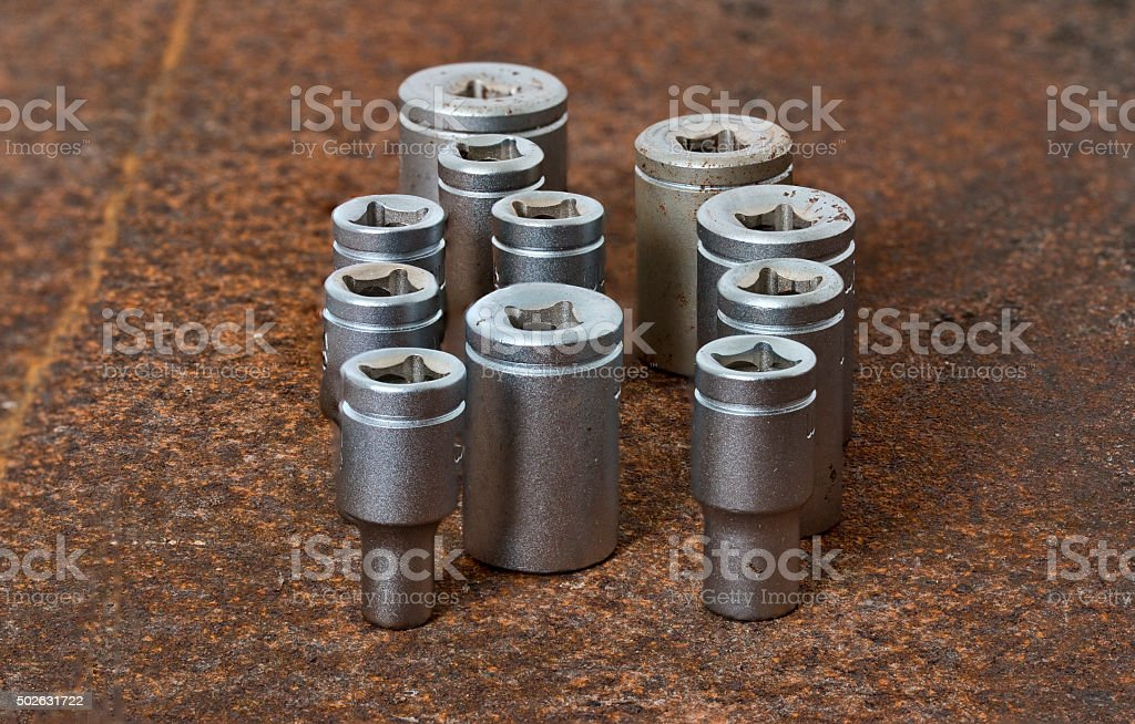 Socket Wrench Parts stock photo