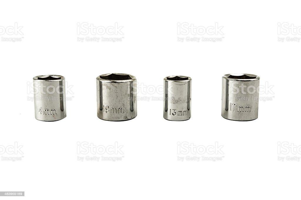 sockets set on white background stock photo