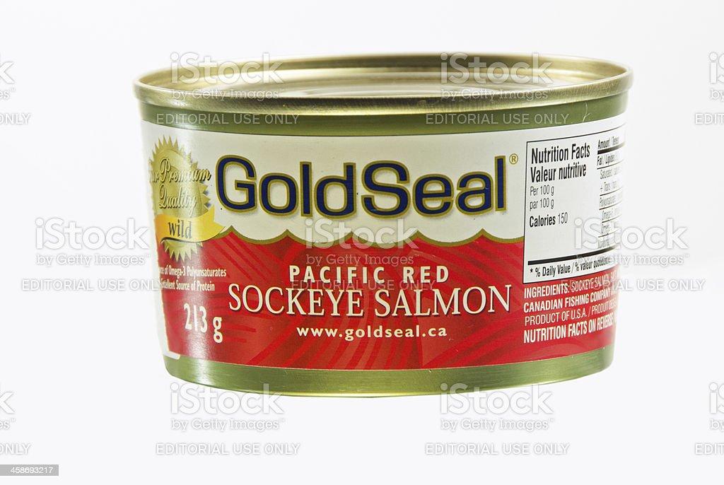 Sockeye Salmon Can stock photo