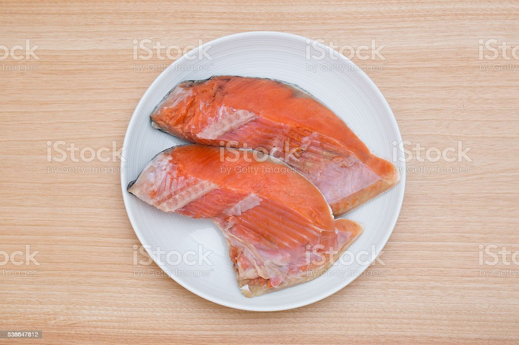 Sockeye salmon salted stock photo