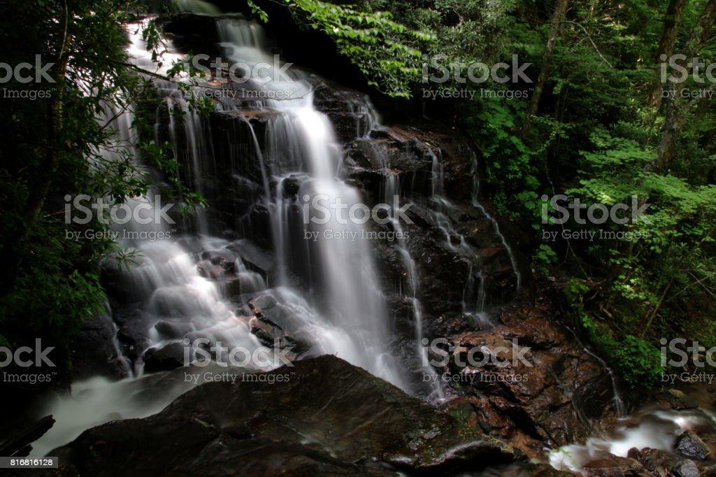 Soco Falls nahe Maggie Valley stock photo
