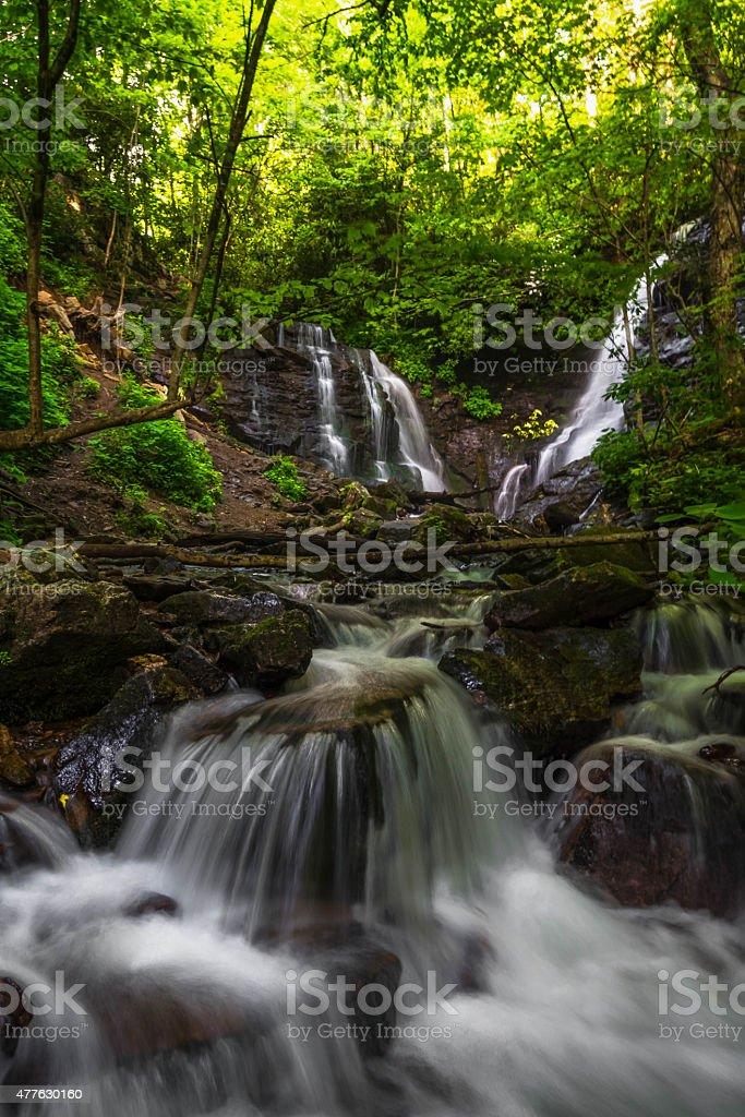 Soco Falls near Cherokee, North Carolina 2 stock photo