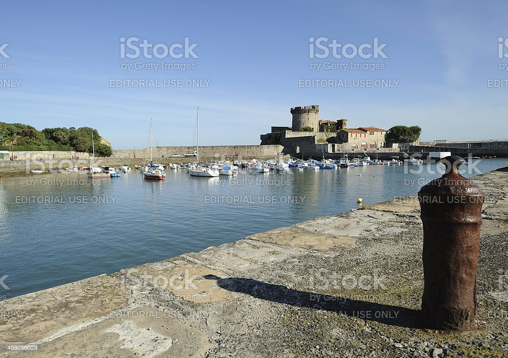 Socoa Harbour and Fort stock photo