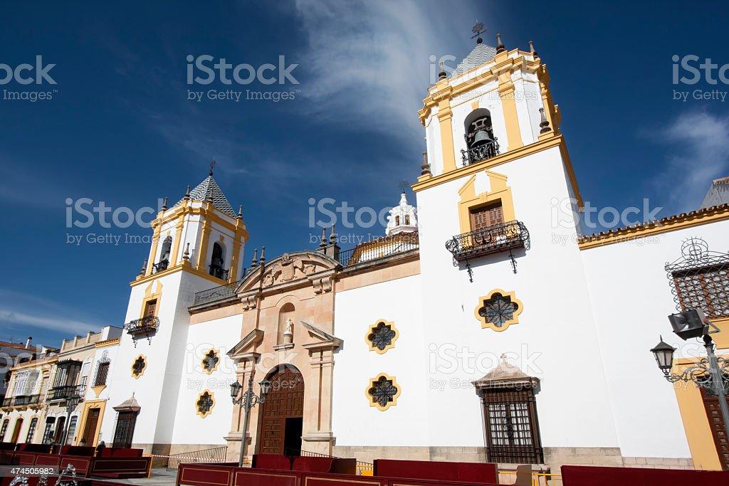 Socorro church in Ronda, M?laga province, Spain. stock photo