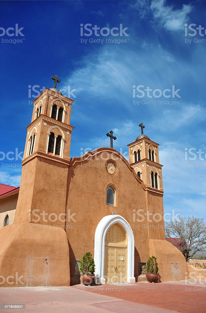 Socorro, New Mexico, USA: San Miguel Mission royalty-free stock photo