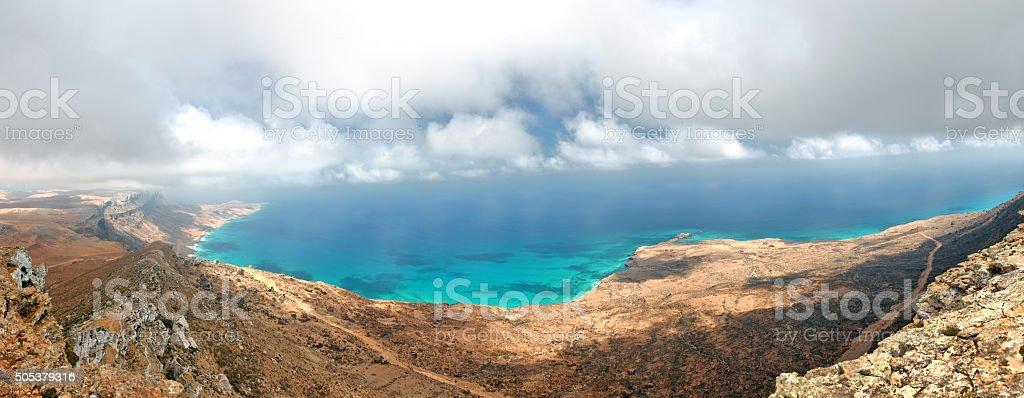 Socotra island - panoramic view stock photo