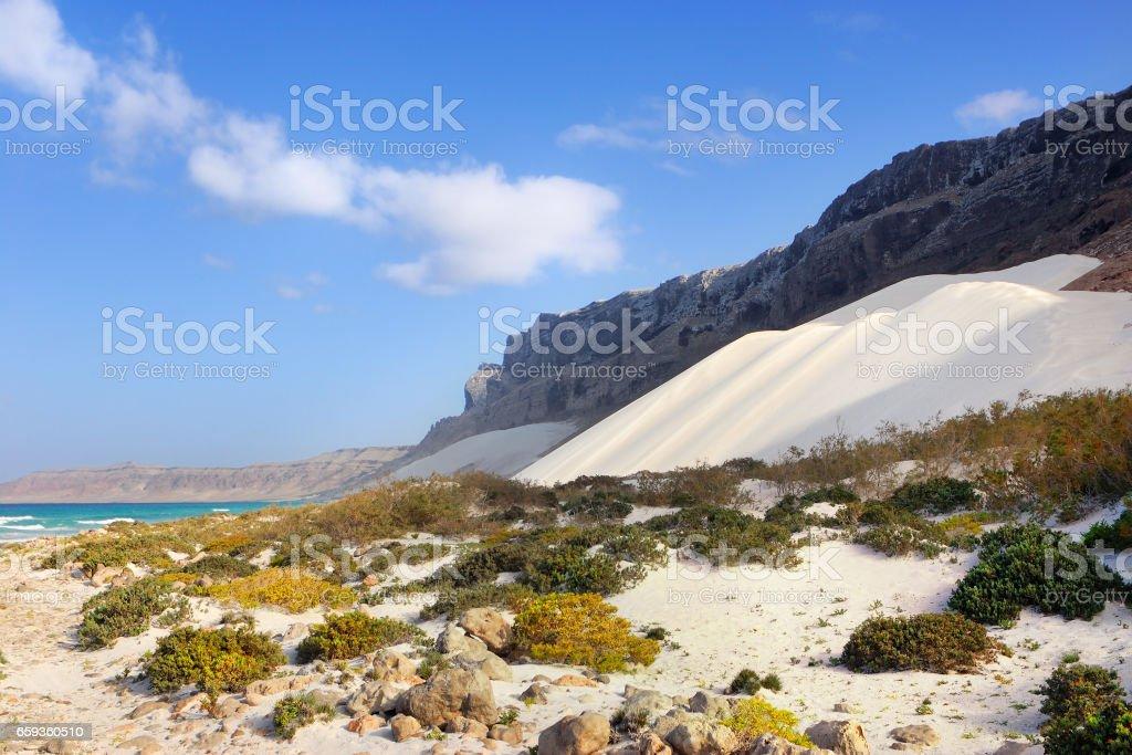 Socotra landscape stock photo