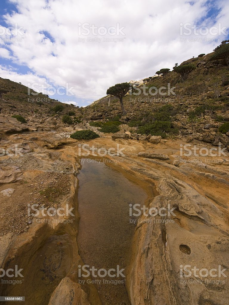 Socotra moon valley stock photo