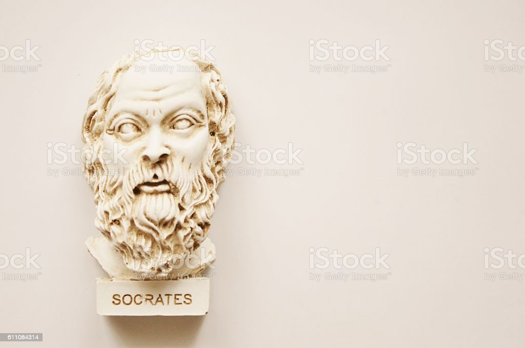 Socrate Statue stock photo