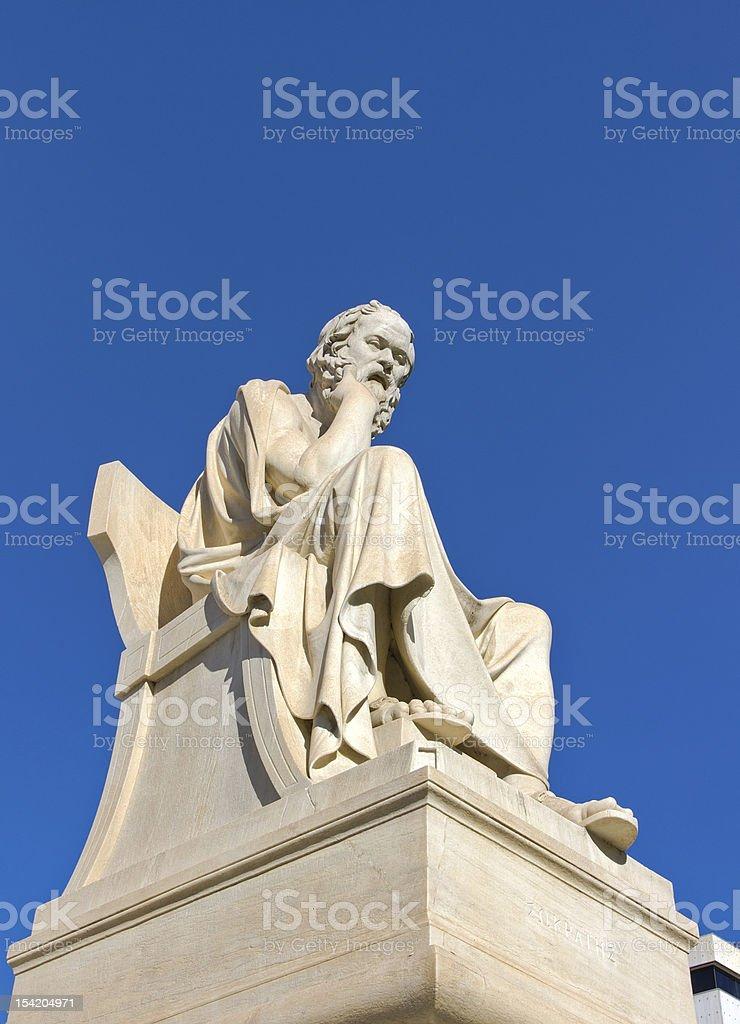 Socrates, Academy of Athens, Greece stock photo