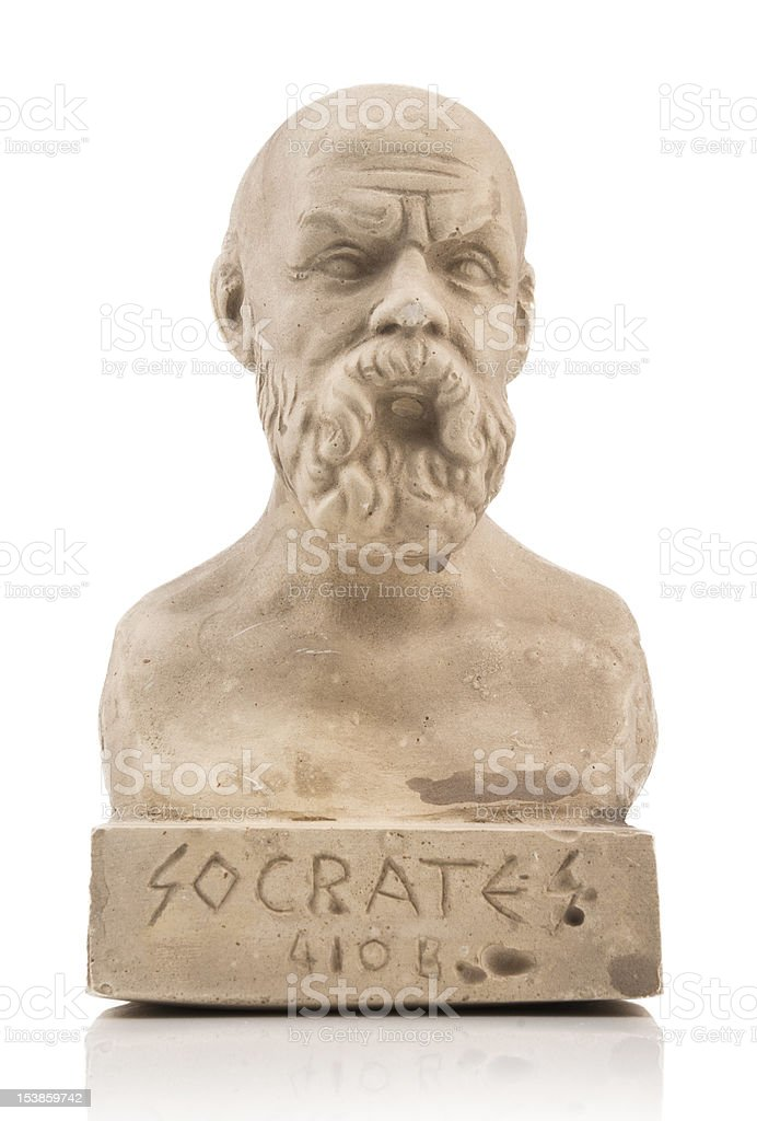 Socrates statue royalty-free stock photo