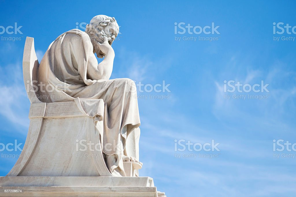 Socrates statue stock photo