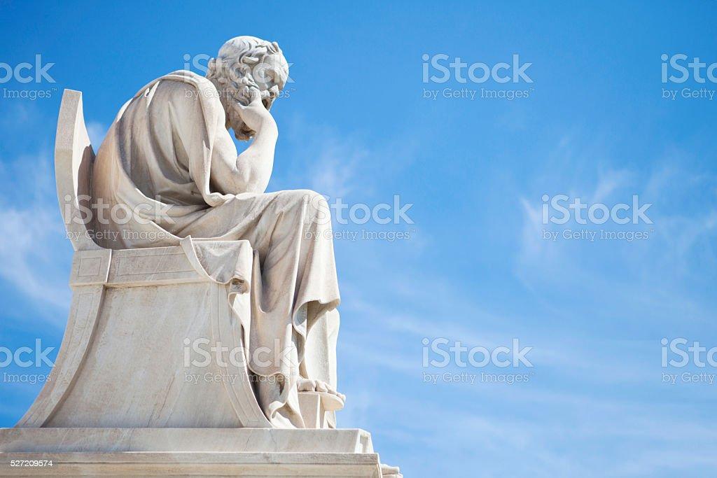Socrates statue stock photo