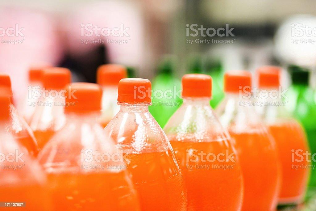 Soda bottles stock photo