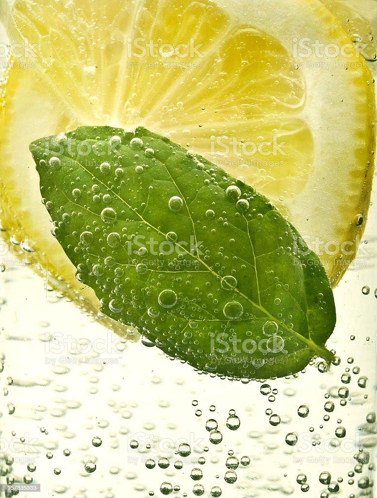 soda, lemon and mint royalty-free stock photo