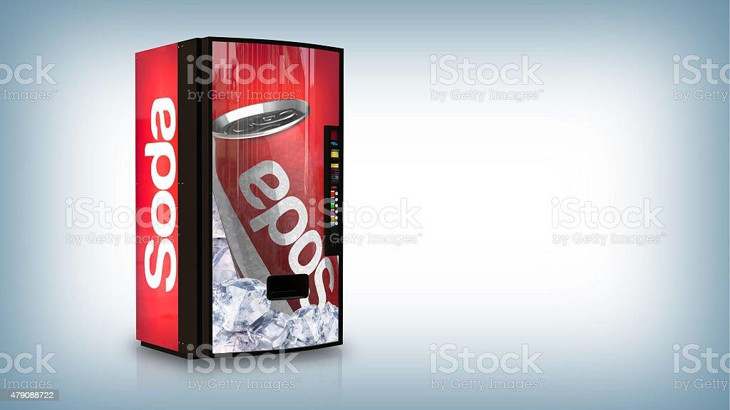 Soda vending machine stock photo