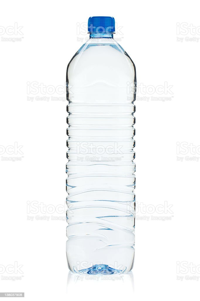 Soda water bottle stock photo