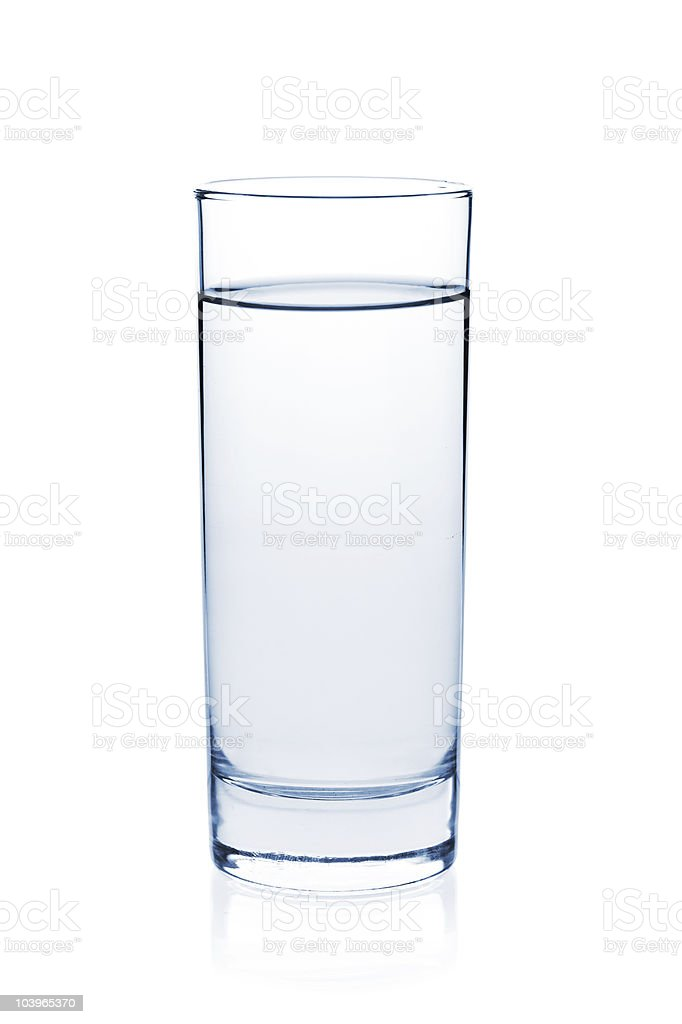 Soda water in glass stock photo