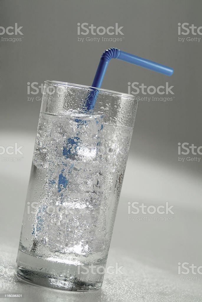 Soda with straw stock photo