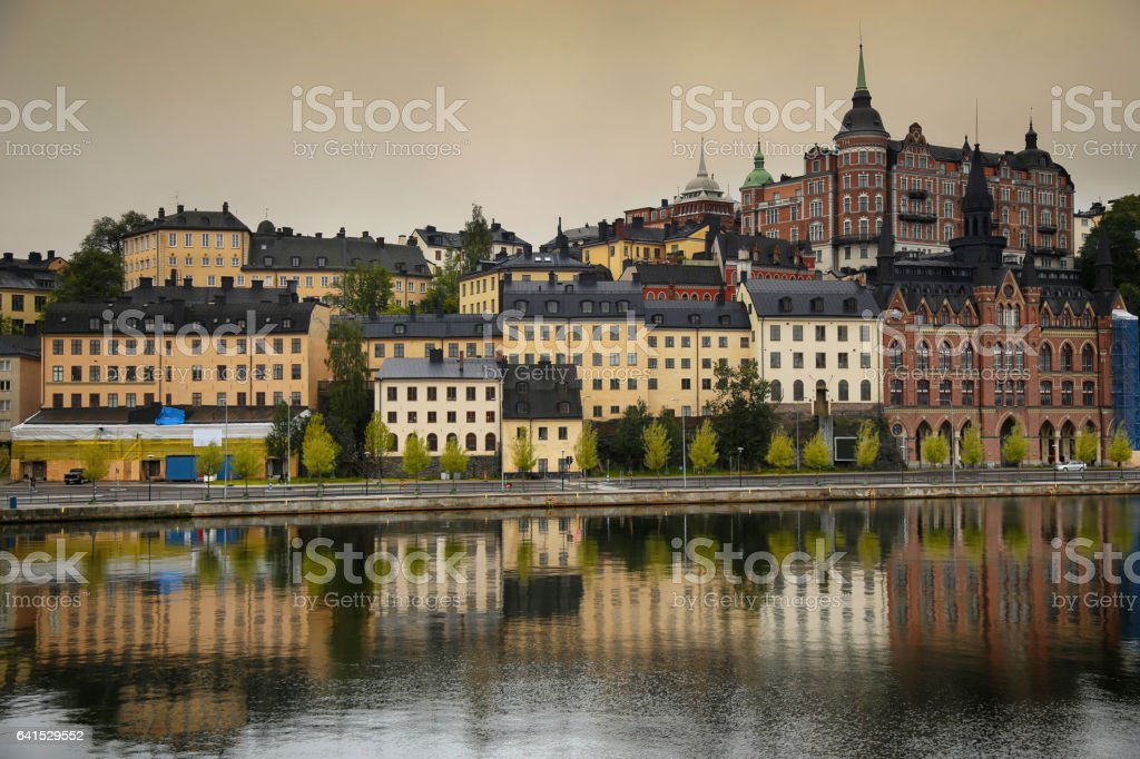 Sodermalm district in Stockholm, Sweden stock photo
