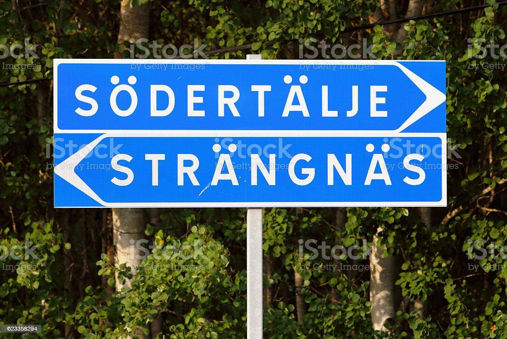 Sodertalje and Strangnas stock photo