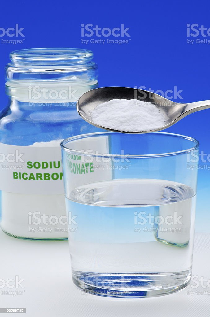 Sodium bicarbonate stock photo