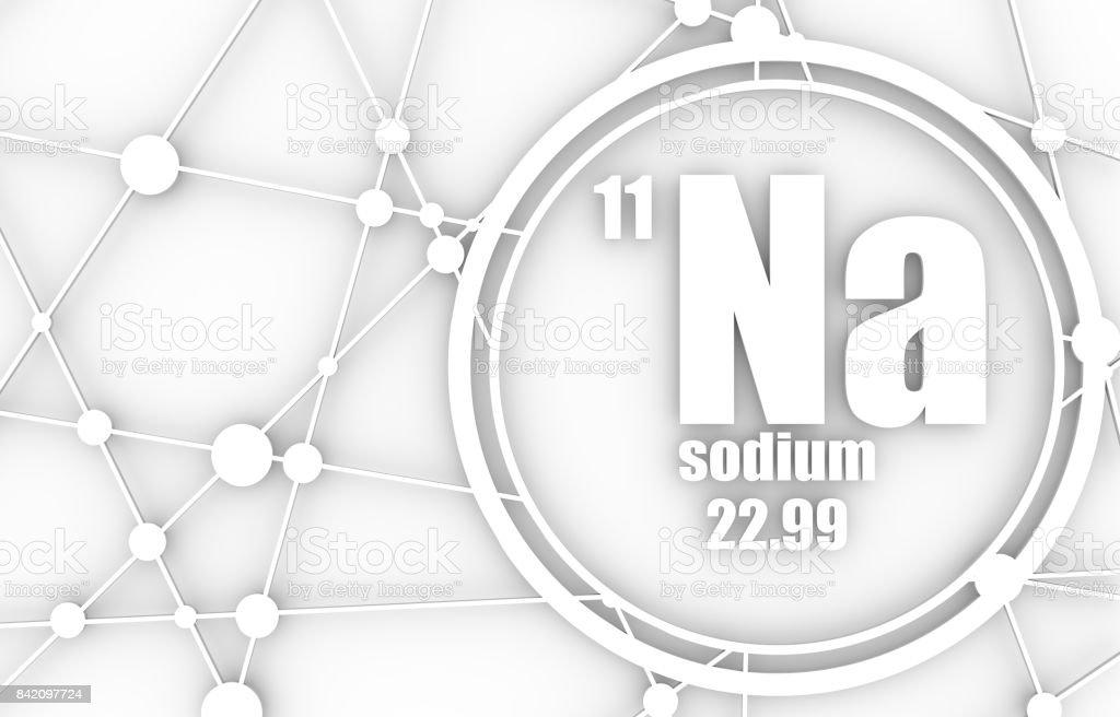 Sodium chemical element. stock photo