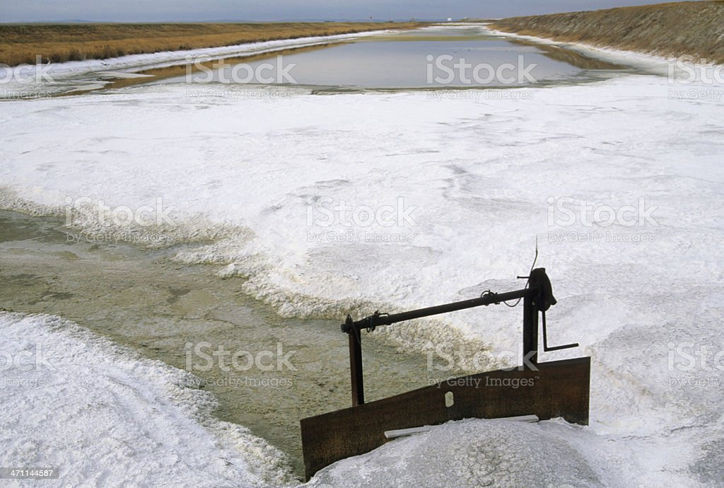 Sodium sulfate works in southern Canada royalty-free stock photo