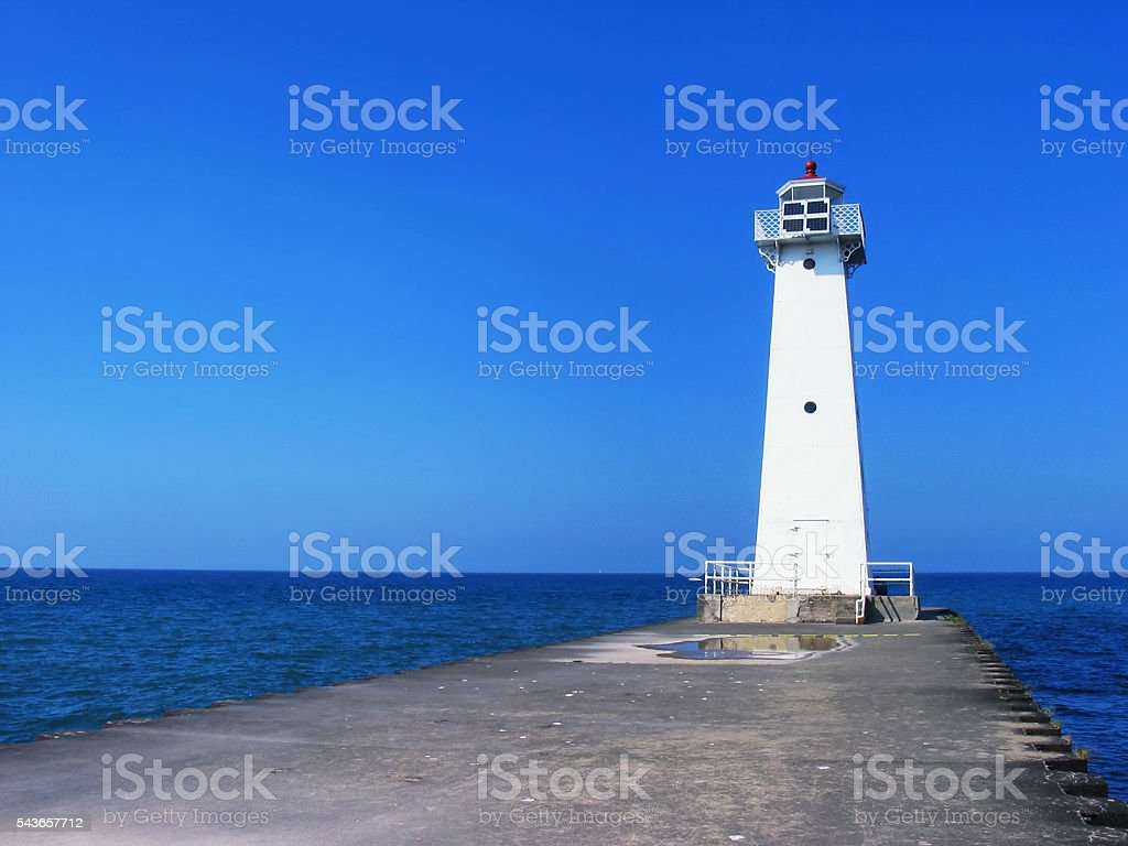 Sodus Point Lighthouse - Lake Ontario, New York State stock photo