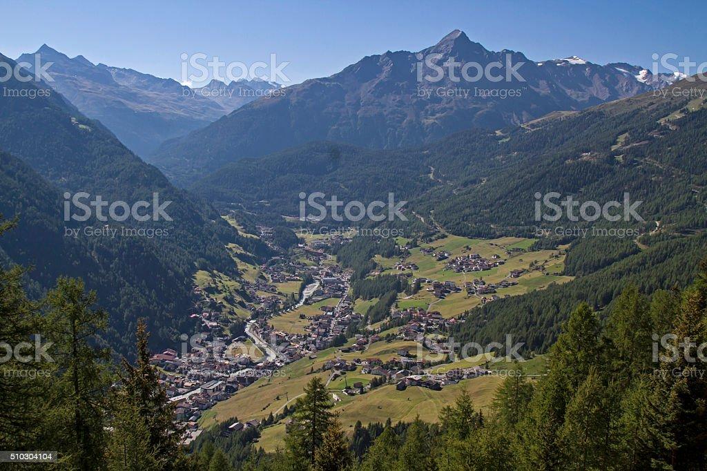 Soelden in  Oetztal valley stock photo