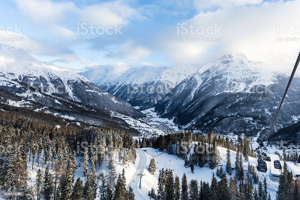 Soelden in Pitztal valley stock photo