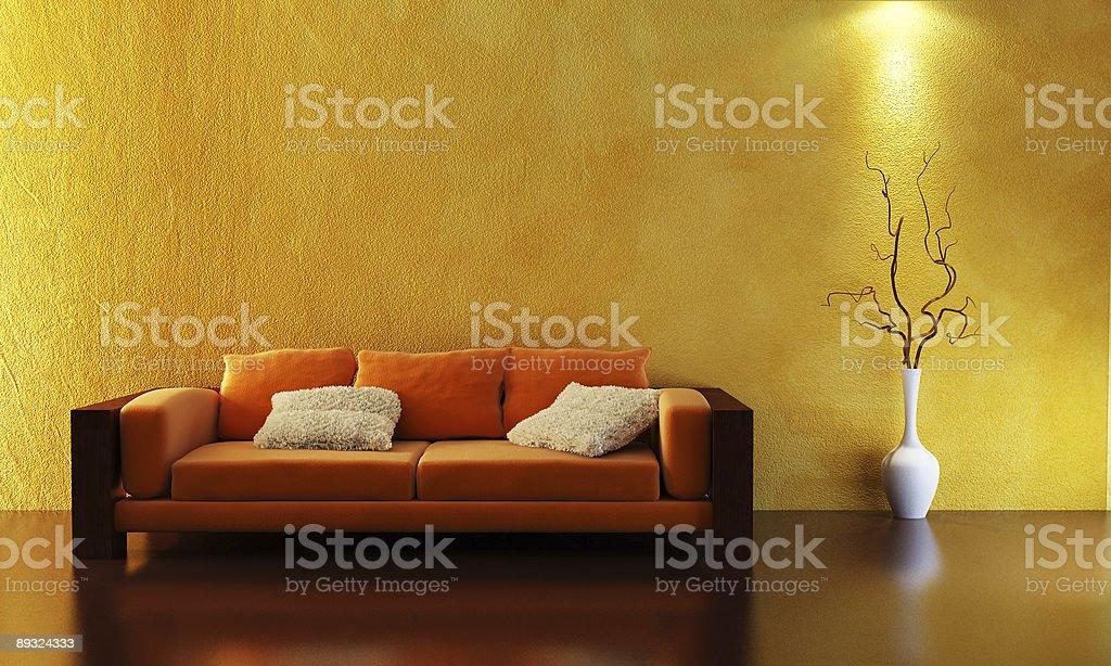 sofa 3D rendering royalty-free stock photo