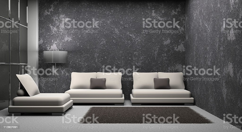 sofa and armchair in the room royalty-free stock photo