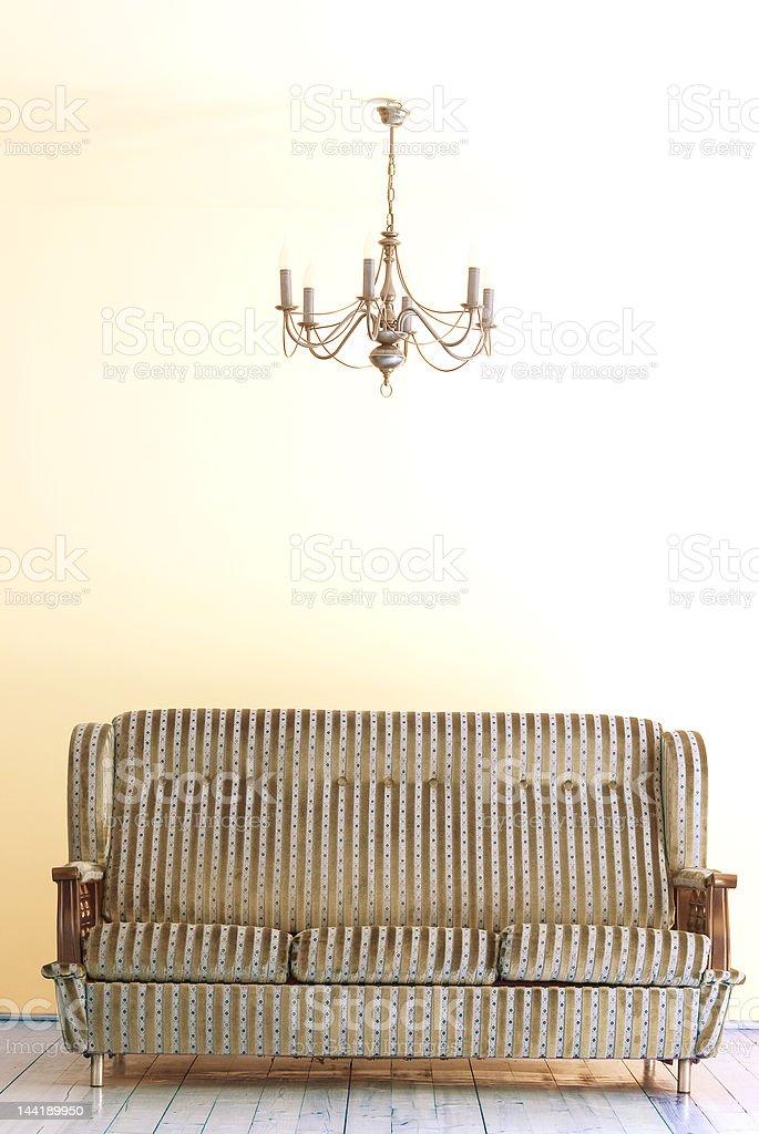 Sofa and lamp royalty-free stock photo