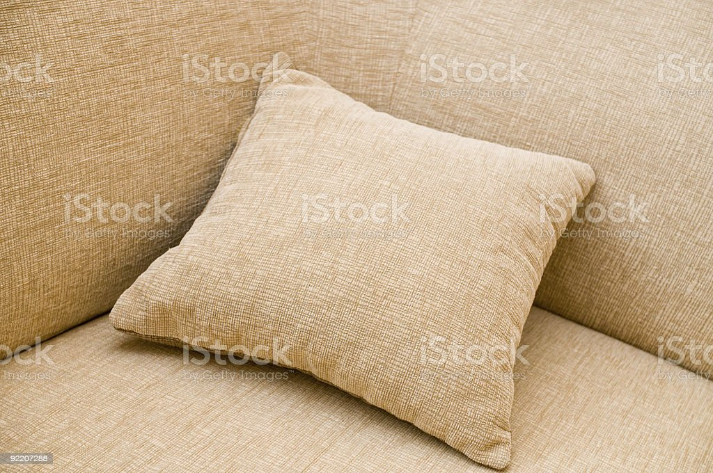 Sofa and pillow. stock photo