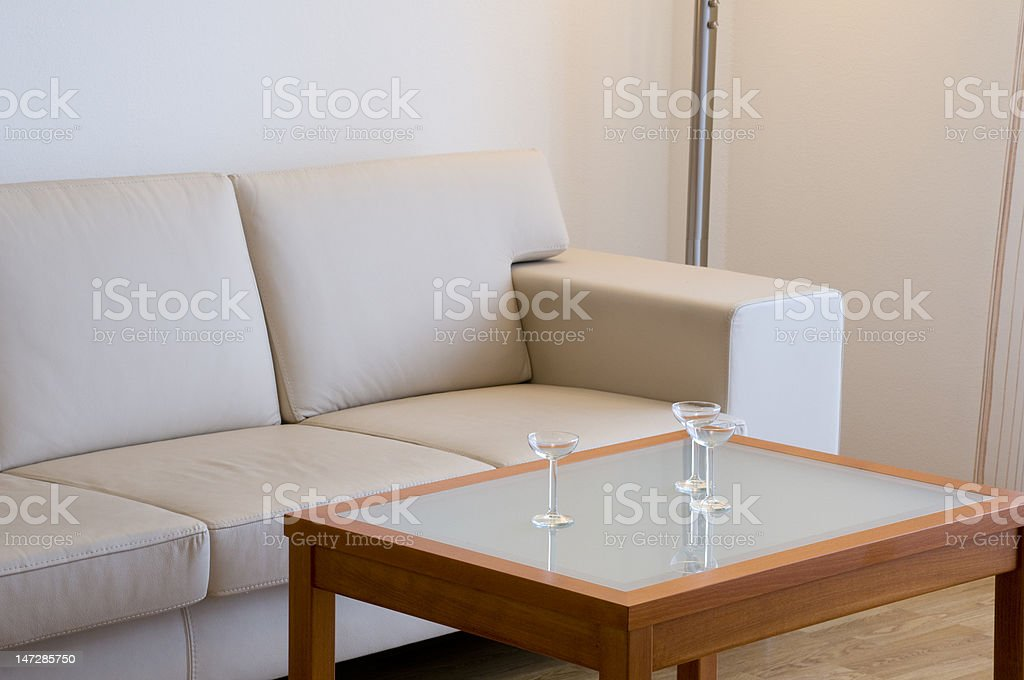 Sofa and table royalty-free stock photo