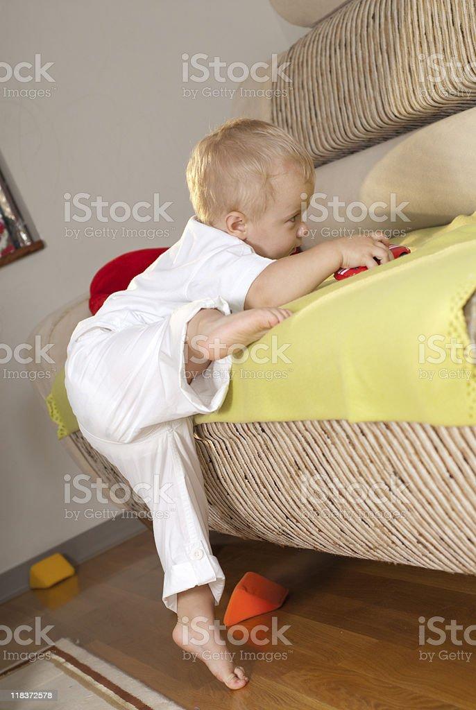 Sofa assault royalty-free stock photo