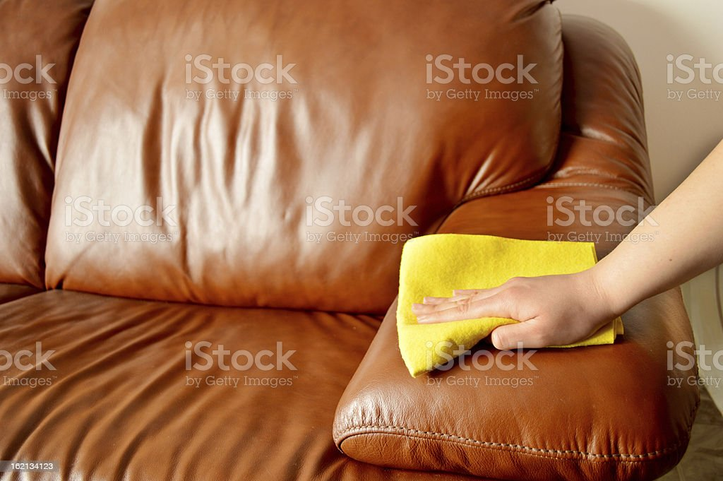 sofa cleaning stock photo