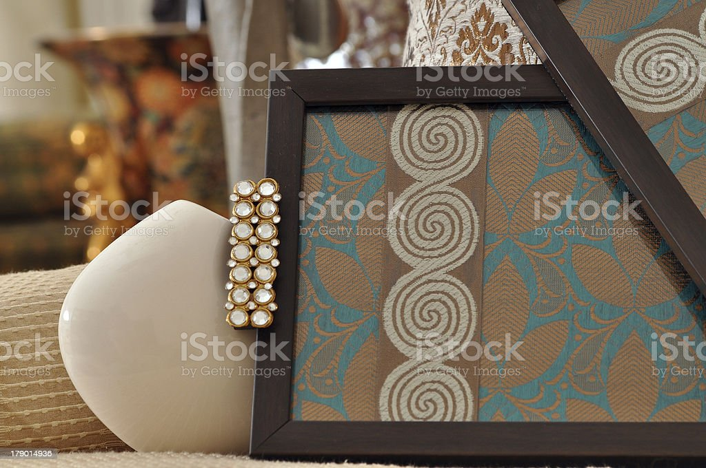 Sofa cushions and Tray royalty-free stock photo