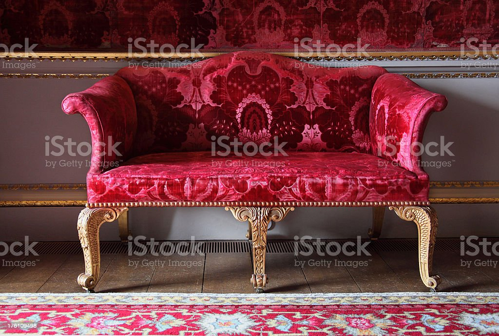 Sofa from English Georgian period royalty-free stock photo